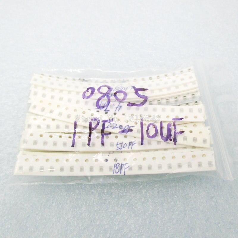 720PCS/LOT 0805 SMD Ceramic Capacitor Assorted kit 1pF~10uF ,36values*20pcs 720pcs Samples Kit Electronic Diy Kit
