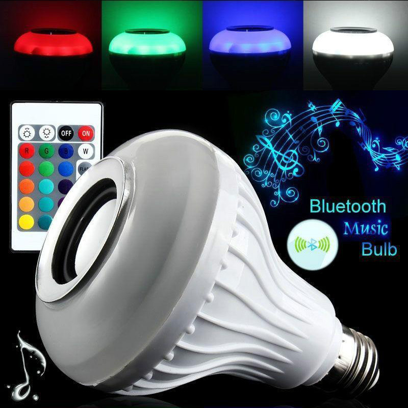 Newest E26 Light Bulb Intelligent Colorful LED Lamp Bluetooth 3.0 Speaker for Home Stage Energy Saving LED Light Bulbs