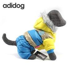 Новые теплые зимние собака одежда для маленький большой Товары для собак толстые хлопковые куртки на пуху Водонепроницаемый полосатый собака пальто для чихуахуа xl/ 6XL