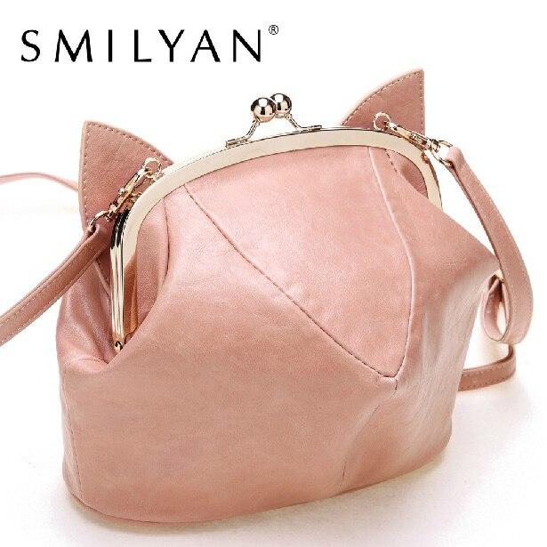 Smilyan 2017 the trend of small package mini cat pack female messenger bag shoulder bag women bag the eyes of the cat