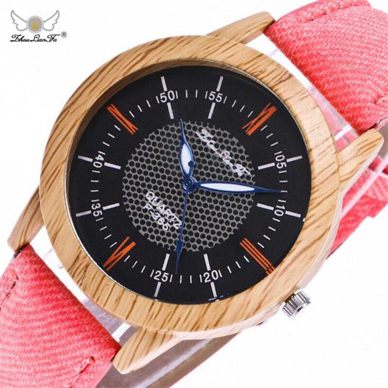 Geneva Digital Counterfeit Wooden Watch Canvas Retro Watch Ladies Fashion Quartz Watch Mens Watches Saat Erkekler Horloge B445