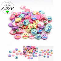 50PCS Owl Wood Beads Color Cute Animal Loose Pearl DIY Children's Toys Handmade Jewelry Accessories 20X18mm
