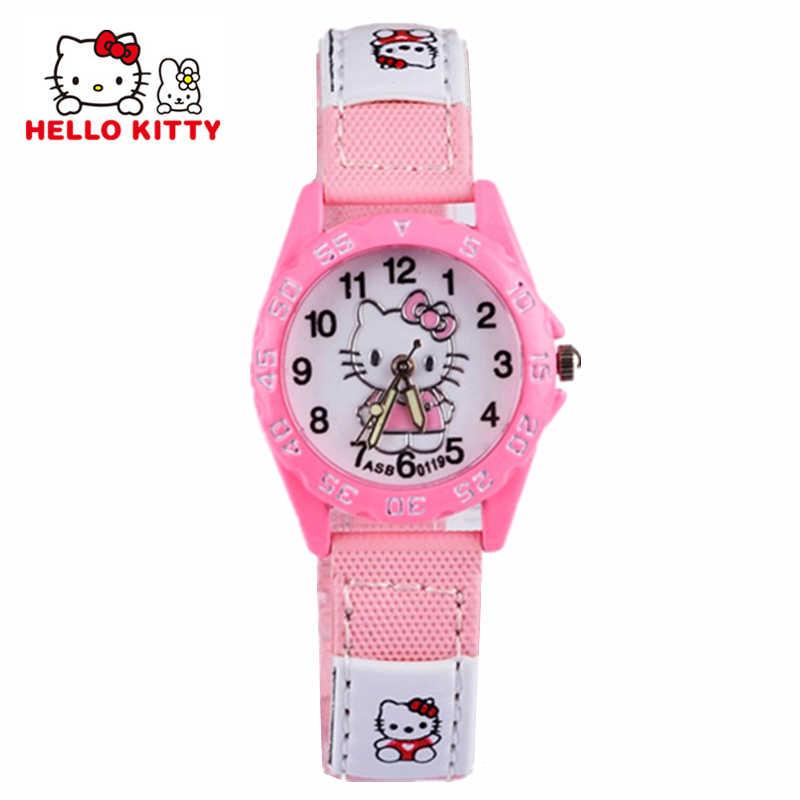 Мультфильм часы Hello Kitty девушка часов детский подарок кварцевые детские  наручные часы бренд часы Силиконовые Relogio 67ae596d08cf3