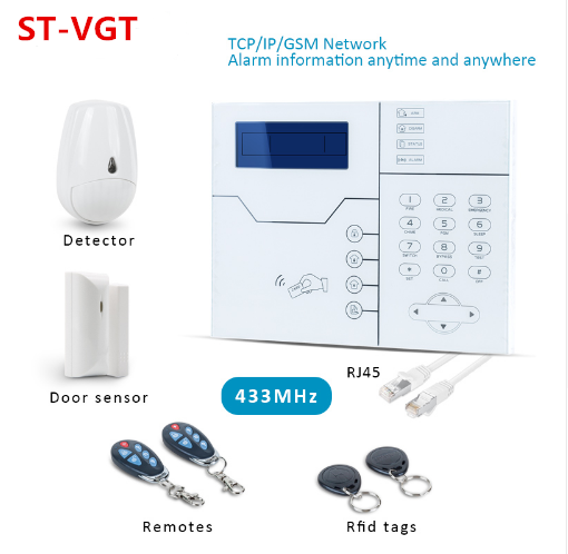 English Or French Voice Prompt Focus RJ45 Ethernet TCP IP Alarm GSM Alarm System WebIE And App Control Smart Home Security Alarm