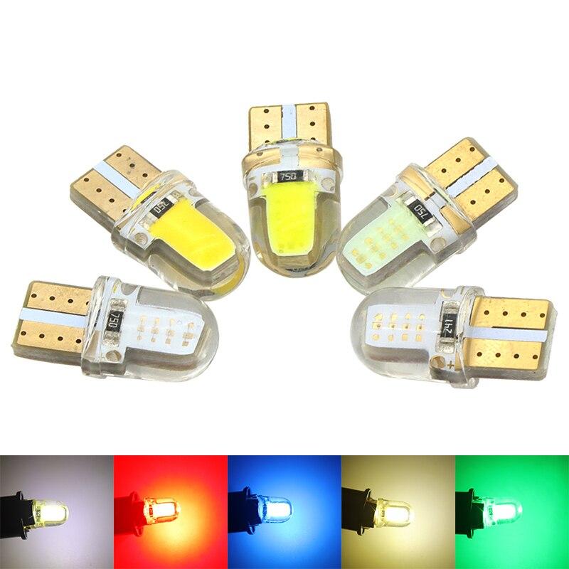 4шт супер яркий W5W и Лампа T10 168 силиконовый чехол клиренс освещения удара СИД двери автомобиля лампы парковка свет авто лампа для чтения Клин