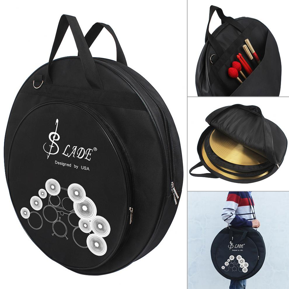 Cymbal Bag Backpack For 8-20 Inch Cymbal And Drum Sticks Three Pockets With Removable Divider Shoulder Strap Percussion