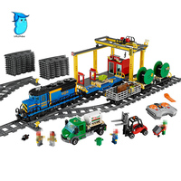 StZhou 02008 The Cargo Train Set Genuine 959Pcs City Series Building Blocks Bricks Educational Christmas Gift