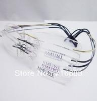 Titanio puro Oro Nero Grigio Gunmetal Coffee Brown Senza Orlo Flessibile Ottica Montature per occhiali Eyewear Occhiali RX-grado