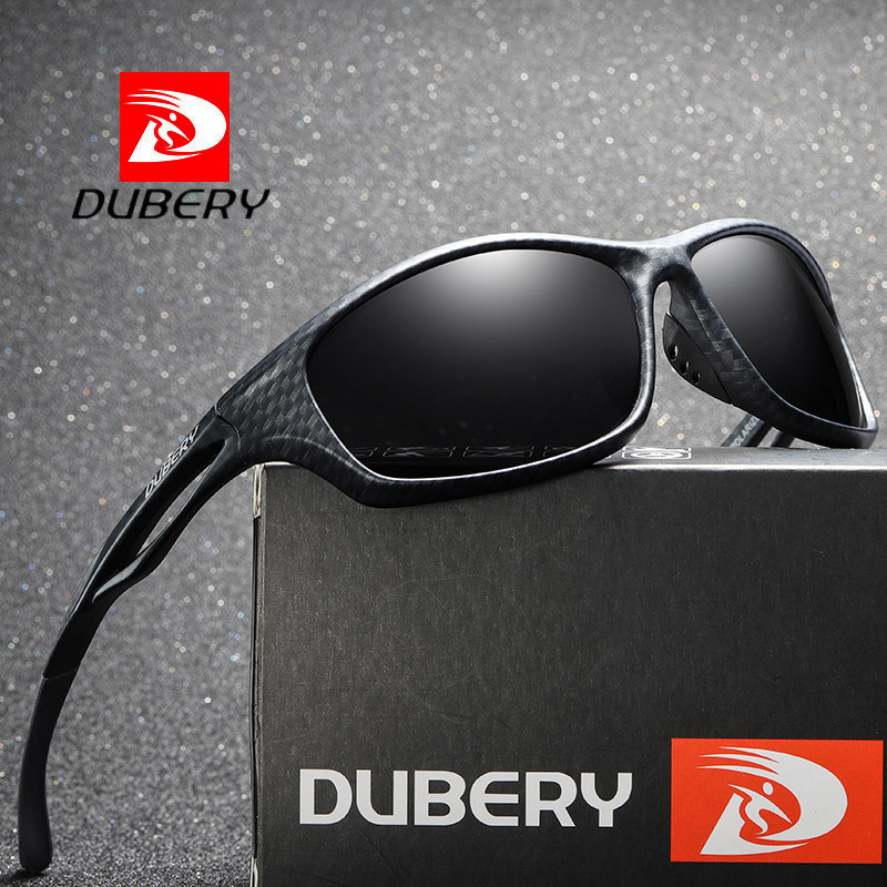 DUBERY Sunglasses Men Polarized 2018 Goggle Sport UV400 High Quality Retro HD Glasses For Women Mirror Brand Designer