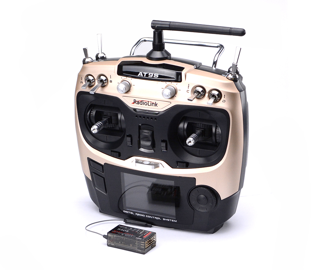 цена на Radiolink AT9S 2.4G 9CH System Transmitter AT9 Remote Control update version with R9DS Receiver Mode 2 Left Hand throttle