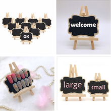Blackboard Display-Stand Memo-Label-Signs Presentation Wooden Price-Table Mini with Stand-Clip