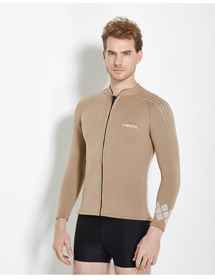 e8aa085045 2018 Men Wetsuit Spearfishing 3mm Neoprene Jacket Swimsuit Dive Surf Swim  Wet Suit Swimwear Long sleeve Beach Wear Triathlon