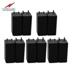 10pcs/Lot Wama New 4V Rechargeable Battery 400mAh Table Lamp Flashlight Mosquito Coils 0.4AH Lead-Acid Cell Storage Batteries