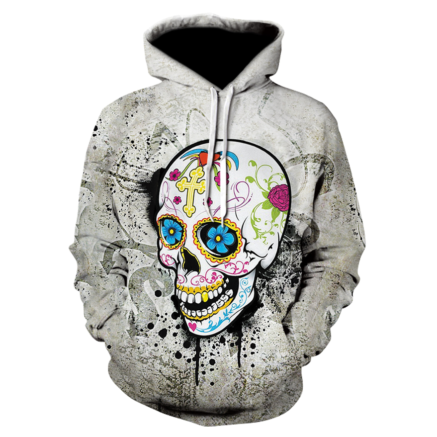 2017 Sweatshirt Hoodies Men Women Cool Creative 3D Print Skull Punisher Grim Reaper Fashion Hot Style Winter Streetwear Clothing