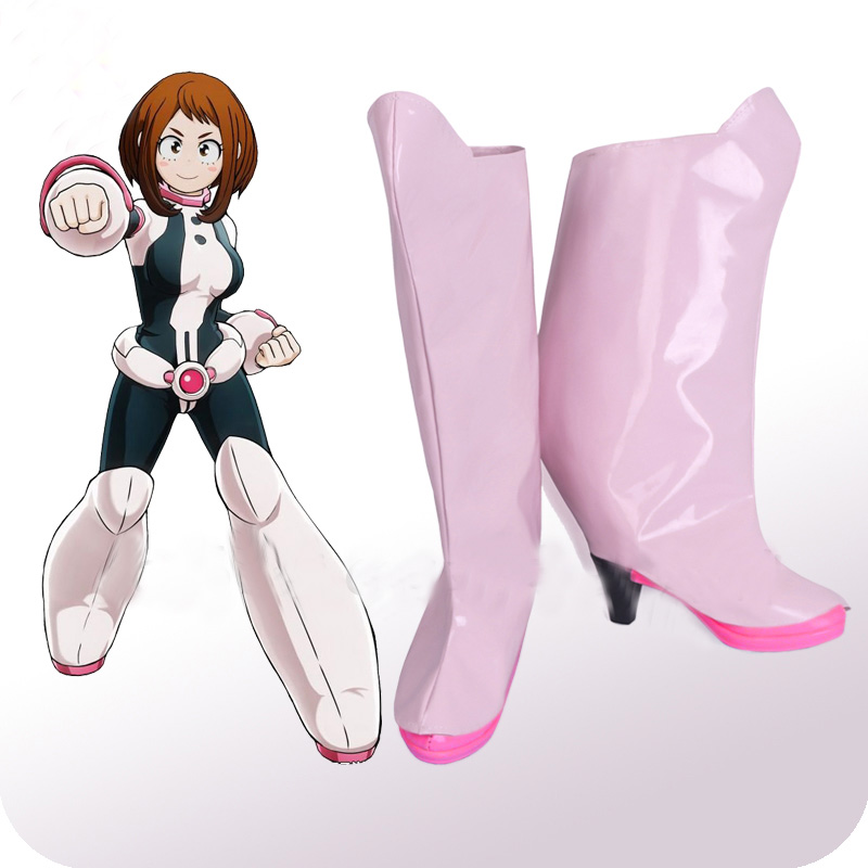 Us 27 3 30 Off My Hero Academia Boku No Hero Akademia Ochako Uraraka Pink Cosplay Shoes Boots Halloween Party Cosplay Costume Accessories In Shoes