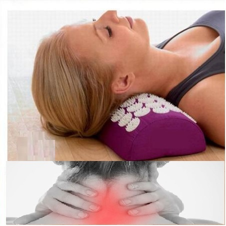 Health Care Tool Acupressure Massage Pillow Head Massager Neck Relaxation Stress Neck Pain Relief Treatment Tension acupressure spike yoga pillow mat relief health care shakti massager relaxation neck back pain treatment