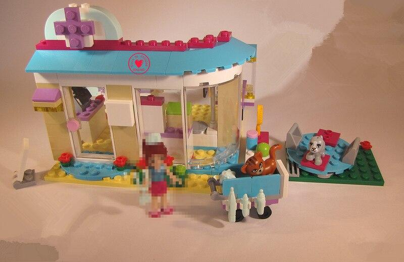 Galleria fotografica 10537 Amici in ospedale pet vet Clinica modello Building Blocks Imposta Mattoni Fai Da Te giocattoli 41085 compatibile <font><b>legoes</b></font> amici del regalo del capretto set