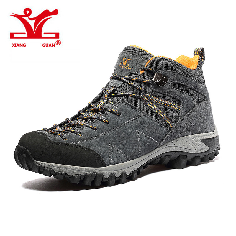 XIANGGUAN 2017 Man Outdoor Hiking Climbing Shoes Damping Breathable Tactical Boots Protect Ankle Sneaker Men Camping Sneakers yin qi shi man winter outdoor shoes hiking camping trip high top hiking boots cow leather durable female plush warm outdoor boot
