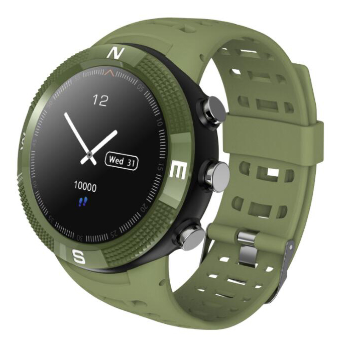 F18 multi-function GPS positioning Bluetooth smart watch multiple sports mode switch depth waterproof health reminder