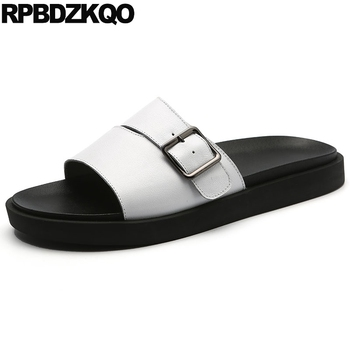 Outdoor White Fashion Slides Slippers Soft Native Sandals Designer Shoes Men High Quality Genuine Leather Summer Sport Sneakers