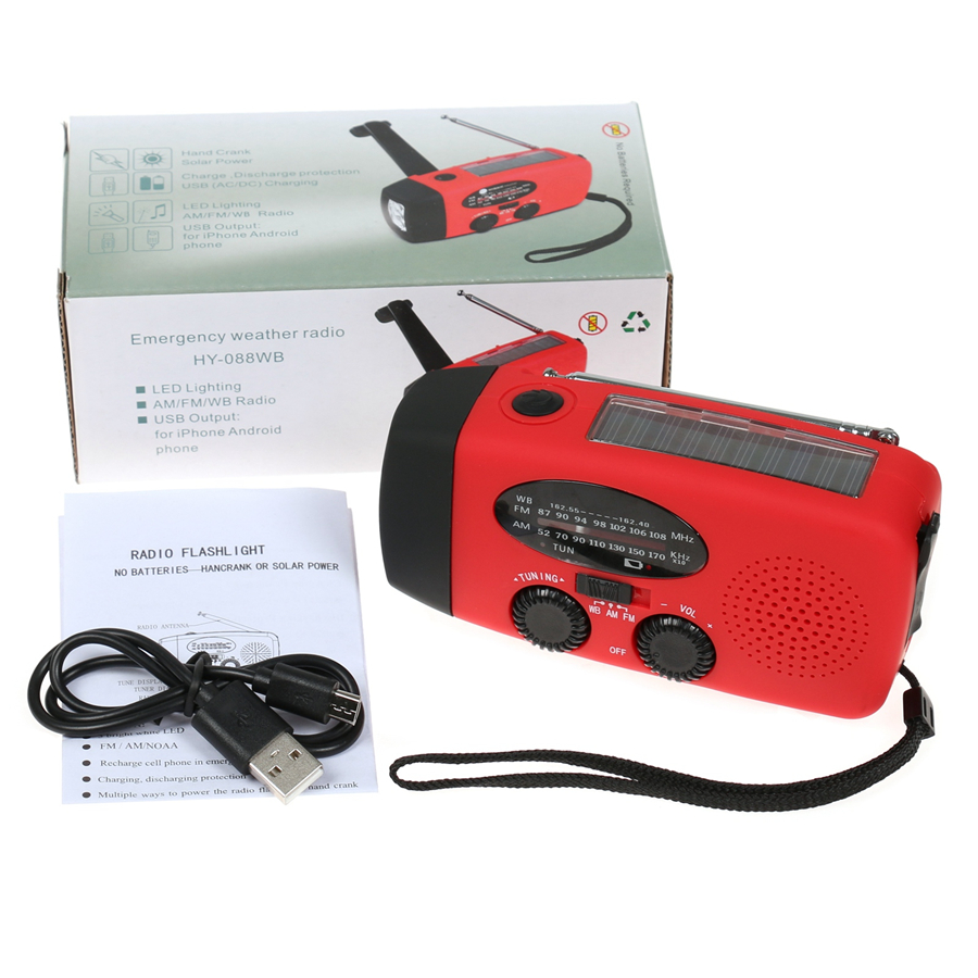 3 In 1 Förderung Digital Portable Radio Am/fm Stereo Player Led-taschenlampe Dynamo Solar Power Mit Handkurbel Reich Und PräChtig