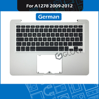 Laptop A1278 Top Case For Macbook Pro 13 A1278 Topcase Palm rest with German Keyboard Replacement 2009 2012