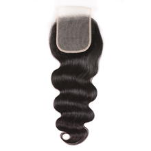 Nadula Hair Body Wave Lace Closure 4*4 Lace Closure Natural Color Remy Hair Brazilian Human Hair For Women 10 20 Inch