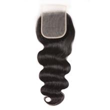 Nadula cheveux vague de corps dentelle fermeture 4*4 dentelle fermeture couleur naturelle Remy cheveux brésiliens cheveux humains pour les femmes 10 20 pouces