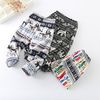 baby boys and baby girls summer long pants 0-3 years new design hot sale toddler fashion pants cartoon and animal print 2018 Baby Pants
