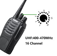 "2pcs baofeng bf 888s 2pcs Baofeng-888s BF Portable 888s BF מכשיר הקשר 16CH שני הדרך רדיו UHF 400-470MHz 2 יח ציד מקמ""ש עם אוזניות (3)"
