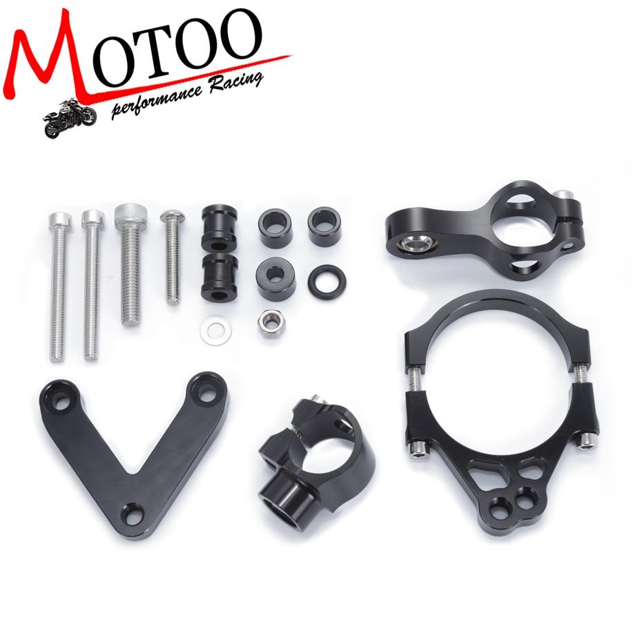 For DUCATI 848 2008-2010 2009 Motorcycles Adjustable Steering Stabilize Damper Bracket Mount Support Kit Accessories