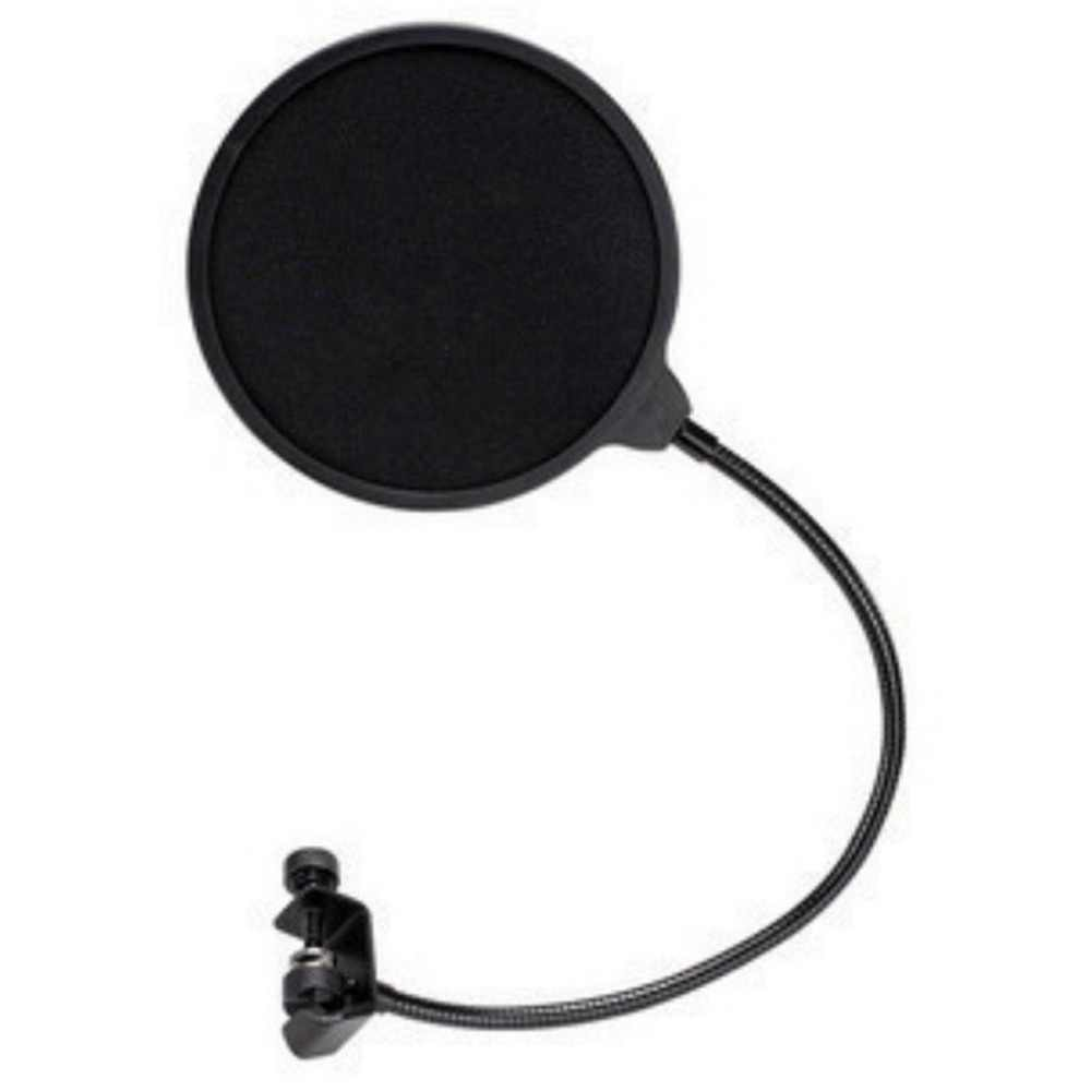 Professional Clamp On Microphone Pop Filter Bilayer Recording Spray Guard Double Mesh Screen Windscreen Studio