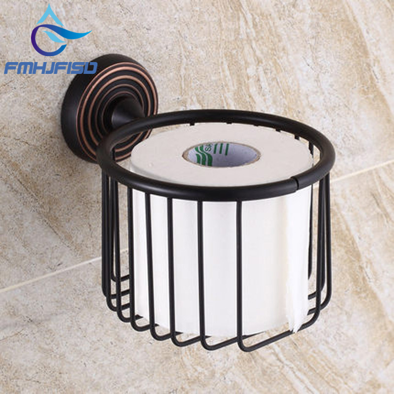 Hot Sale Promotion Oil Rubbed Bronze Wall Mounted Toilet Paper Holder Tissue Basket Storage Holder oil rubbed bronze toilet paper holder wall mount tissue box