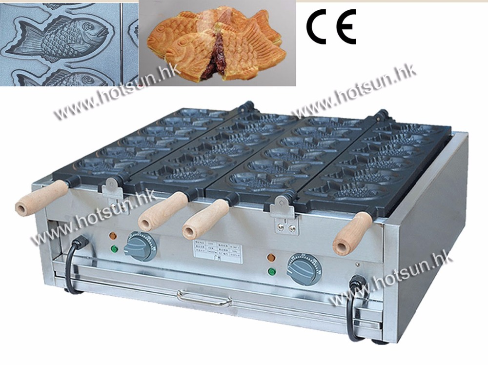 Free Shipping 12pcs Commercial 110v Electric Japanese Taiyaki Fish Waffle Baker Maker Iron Machine good quality wholesale and retail chrome finished pull out spring kitchen faucet swivel spout vessel sink mixer tap lk 9907
