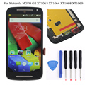 Для Motorola MOTO G2 XT1063 XT1064 XT1068 XT1069 ЖК-Дисплей С Сенсорным Экраном Дигитайзер Ассамблеи + Рамка + Инструменты, черный Бесплатная Доставка