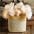Férias Luzes Da Corda LEVARAM 5 M Novidade Rose Flor de Fadas Iluminação Casamento enfeites de Árvore de Natal Decoração para Casa Plug in