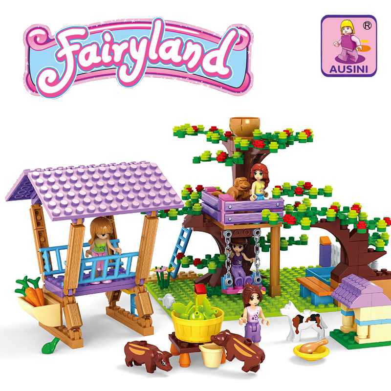 Ausini Model building kits compatible with lego city farm 801 3D blocks Educational model & building toys hobbies for children набор полотенец tete a tete сердечки цвет желтый бирюза 50 х 90 см 2 шт