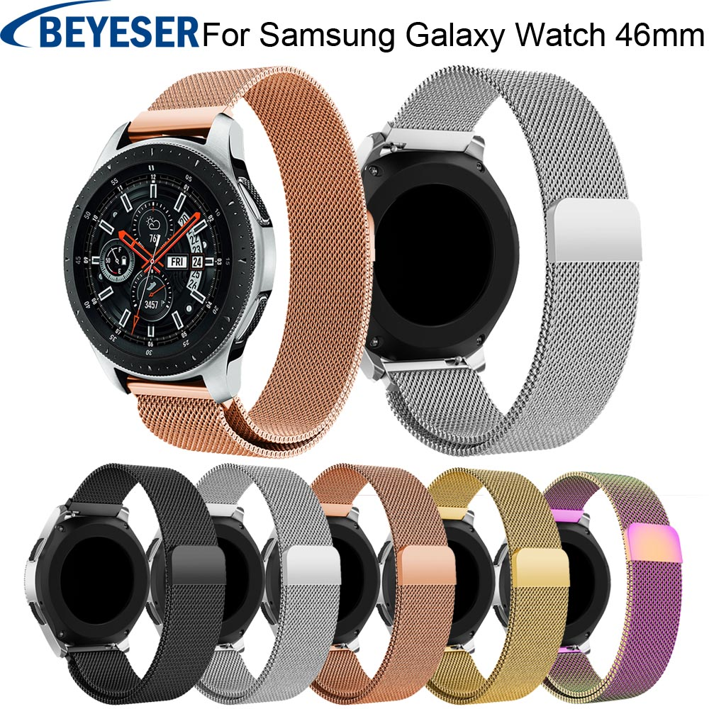 for Samsung Galaxy Watch 46mm Band bracelet straps for Samsung Gear S3 Classic Frontier Stainless Steel Milanese Loop Watch Band 22mm stainless steel watch bands for samsung galaxy 46mm bracelet strap for samsung gear s3 classic frontier sport band