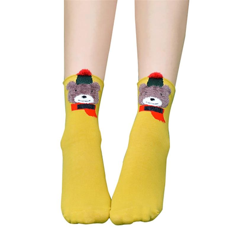 Christmas Women Girl Casual Socks Cotton Women Warm Socks Printing Cute Casual Socks For Christmas Gift Wholesale 30OT15 (8)