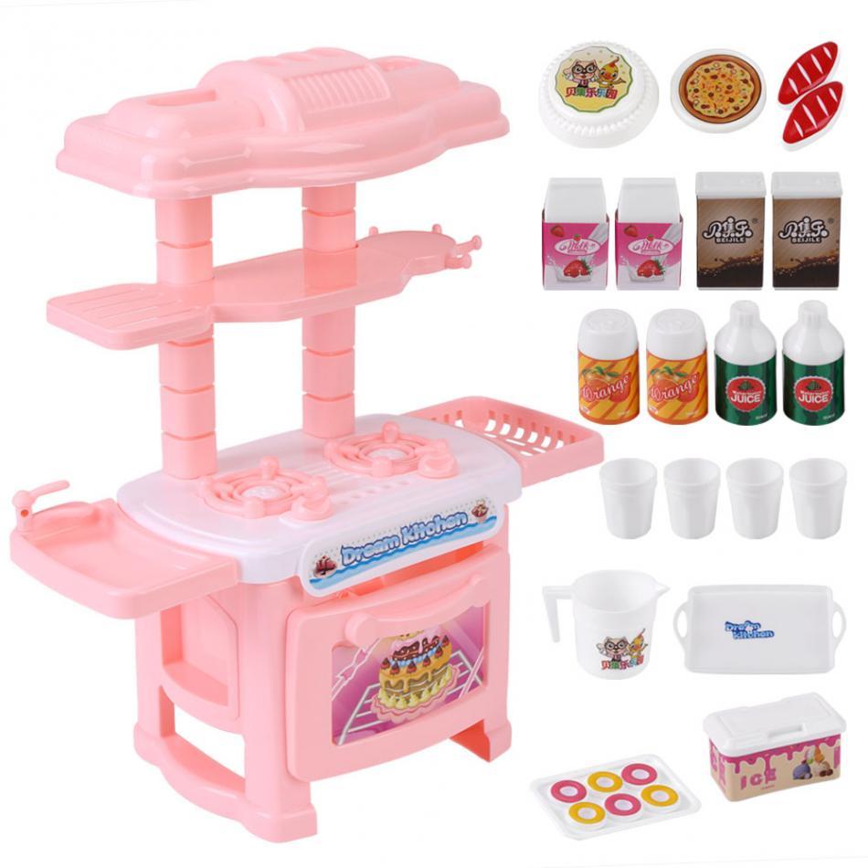 Дети Кухонные игрушки набор Пособия по кулинарии притворяться, играть роль Игрушечные лошадки для детей Пластик реалистичные Посуда печь д...