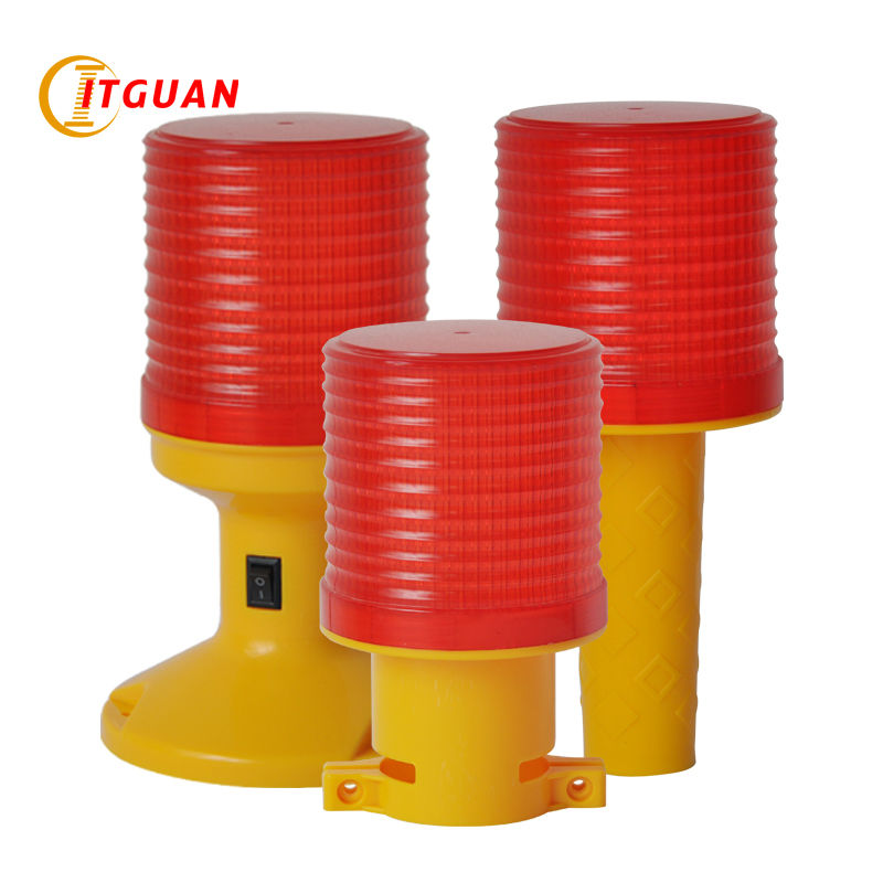 SL-5080  Solar Warning Light Solar Power LED Flashing Warning Lamp Industrial Emergency Strobe Light Beacon Tower Signal