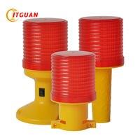 SL 5080 solar warning light Solar Power LED Flashing Warning Lamp Industrial Emergency Strobe Light Beacon Tower Signal