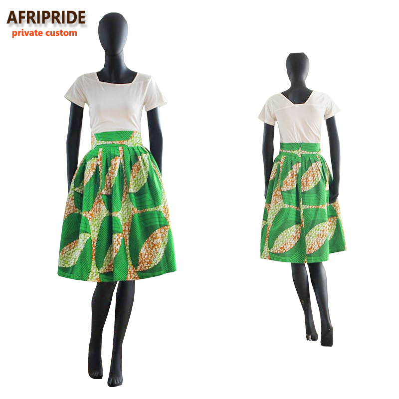2017 ljeto originalni afrički stil odjeće midi suknja za žene - Nacionalna odjeća - Foto 2