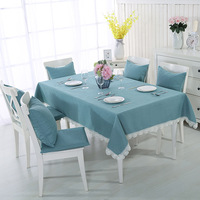 INS Nordic High Grade Solid Color Lace Cotton Linen Tablecloth Coffee Table Cloth Household Waterproof Soft durable