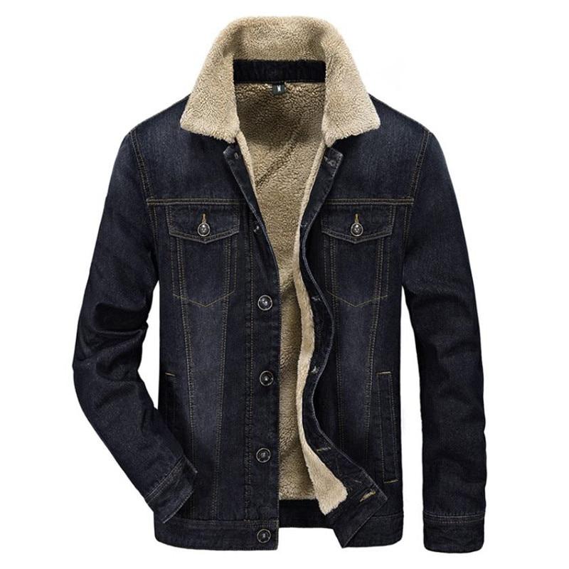 2018 nouveaux hommes veste et manteaux vêtements denim veste mode hommes veste épais chaud hiver outwear homme cowboy M-4XL