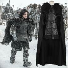 New Game Of Thrones 5 Jon Snow Cosplay Costume Carnival/Halloween Costumes for Women/Men Adult Custom Any Size