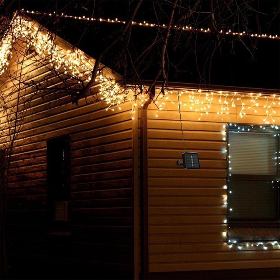 ZjRight 20 m 200 LED Mis Tellər Günəş Dizi nağılları, Milad - Xarici işıqlandırma - Fotoqrafiya 5