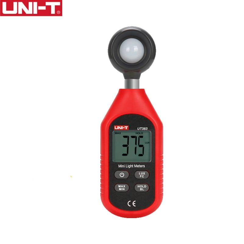 Измеритель освещенности UT383, 200000 лк, цифровой измеритель яркости LUX Fc, Макс. Мин, фотометр