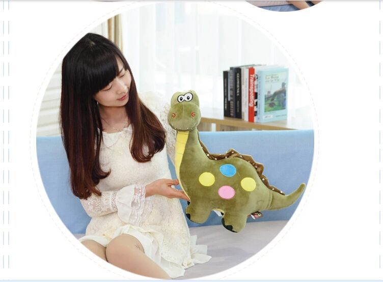 new lovely plush dinosaur toy cartoon spots green dinosaurs doll gift about 50cm 0312