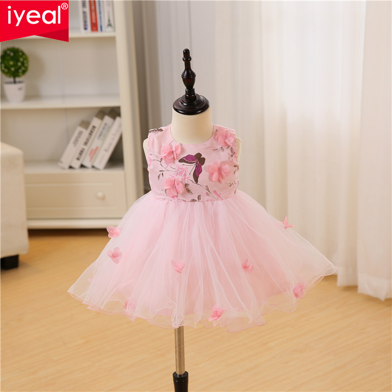 aliexpress.com - IYEAL Baby Girl Dress 1 Year Birthday Dresses Flower Girl  Infant Baptism Vestido Infantil Princess Wedding Party Dress for 0-18M -  imall. ... f77216ff8b25
